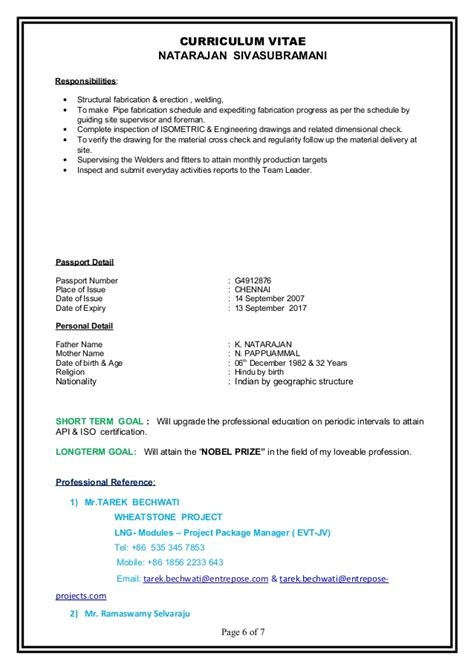 Pipefitter Supervisor Resume Sle by Welding Foreman Resume Exles 28 Images Welder Resume