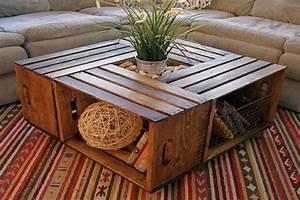 Table Basse Caisse Bois : table basse diy 22 exemples pour faire votre choix ~ Nature-et-papiers.com Idées de Décoration