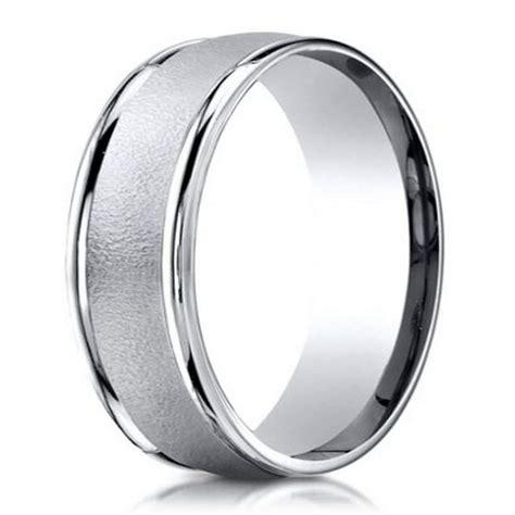 designer  platinum wedding ring  men  wired
