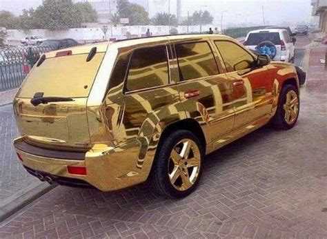 cool golden cars gold plated jeep cool cars pinterest gold and jeeps