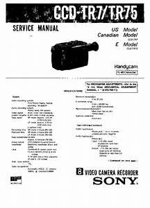 Sony Ccd-tr7  Ccd-tr75 Service Manual