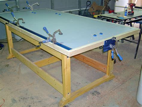 assembly table  kreg clamps  track   side