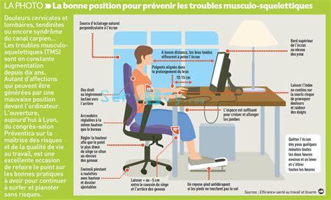 posture bureau position bureau ordinateur ergonomie recherche
