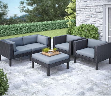 Conversation Sets Patio Furniture by Oakland 5 Patio Conversation Set Black The Brick