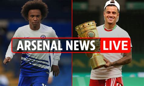 6pm Arsenal transfer news LIVE: Coutinho and Willian ...