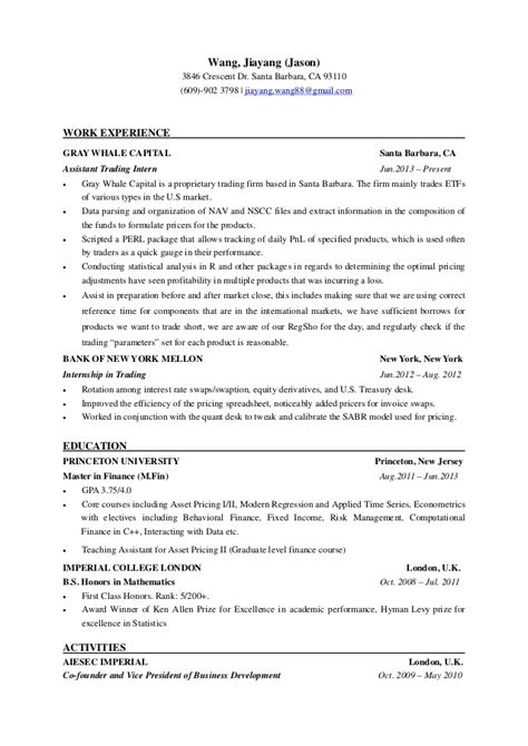 resume jason wang