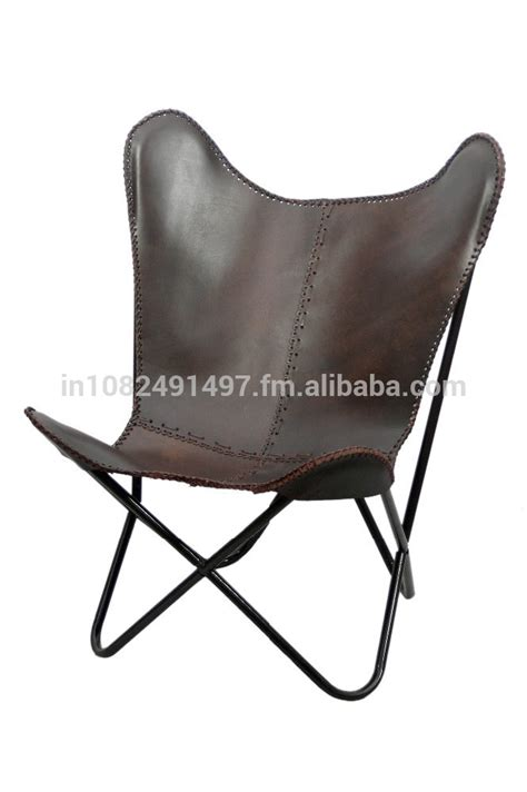 iron folded frame leather butterfly chair buy metal