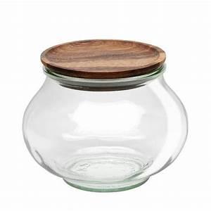 Pot Verre Couvercle : pot en verre rond herm tique deco 1l couvercle en bois weck ~ Teatrodelosmanantiales.com Idées de Décoration