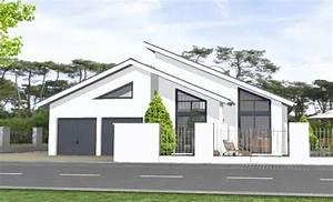Bungalow Mit Pultdach : moderner bungalow mit pultdach und doppelgarage design ~ Lizthompson.info Haus und Dekorationen