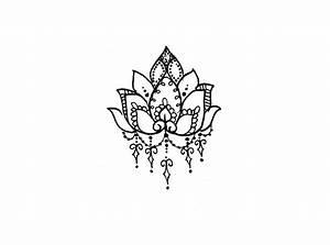 Lotus Flower Temporary Tattoo - Temporary Tattoos + More ...