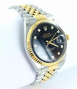 Uhr Rolex Herren : rolex datejust herren uhr mit diamanten brillanten stahl ~ Kayakingforconservation.com Haus und Dekorationen