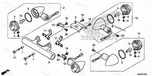 Honda Motorcycle 2017 Oem Parts Diagram For Turn Signal