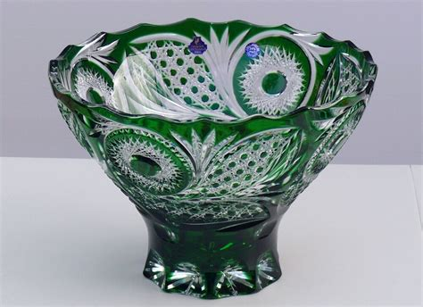 Bowl Vase by Bowl Fruit Vase 22x32 Cm Green Cut To Clear