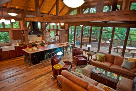 barn frame house in Denver, Colorado   Traditional   Living Room   other metro   by Trestlewood