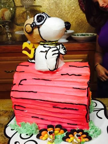 frosted art snoopy flying ace cake cake decorating tutorial