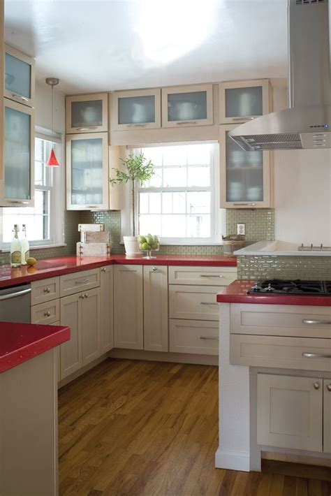 Delorme Designs Seeing Red!! Red Countertops Home
