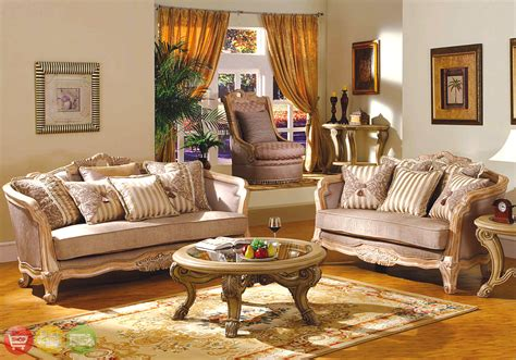 Room Furniture by Buckingham Traditional Whitewash Exposed Wood Living Room Set