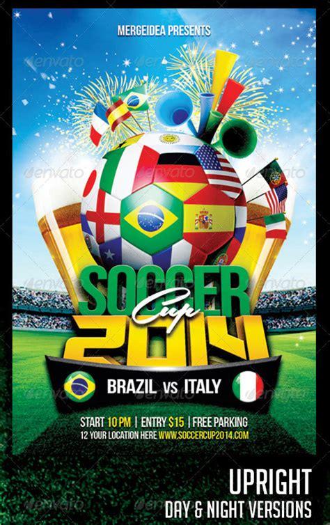 world cup brazil psd flyer templates bashooka