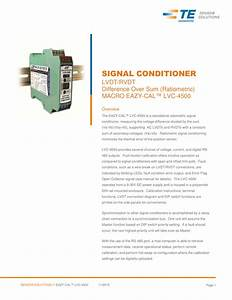 Signal Conditioner Lvdt  Rvdt Difference Over Sum  Ratiometric
