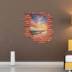 Stickers Muraux Trompe L Oeil : sticker muraux trompe l 39 oeil sticker mural coucher de ~ Dailycaller-alerts.com Idées de Décoration