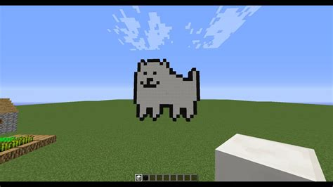 Building Toby Fox. (in His Annoying Dog Form In Minecraft