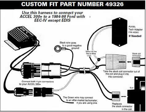 how to install a accel performance tach adapter in your 1984 1995 mustang americanmuscle