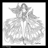 Coloring Adult Blank Fairy Books Corset Prinses Leonora Kleurplaten Sheets Pencil Printable Template Adults Shore Jim Bron Stencil Colouring Dibujos sketch template