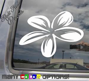 Plumeria Flower - Island Girl Tropical Car Auto Window
