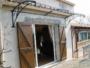 Marquise De Porte Ancienne : marquise fer forg en arc saint maximin var ferronnier ~ Dailycaller-alerts.com Idées de Décoration