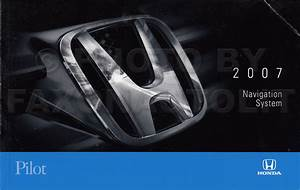 2007 Honda Pilot Navigation System Owners Manual Original