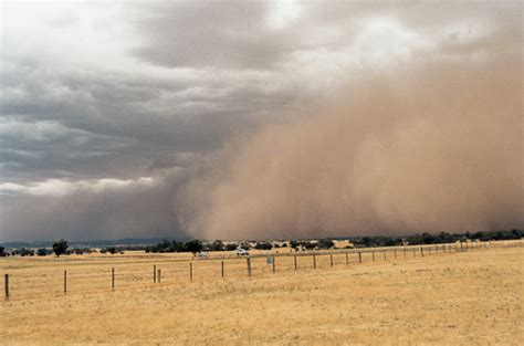 dust storm intensity tempered   land management