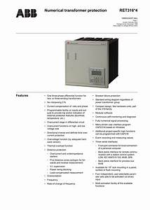 Numerical Transformer Protection Ret316 4