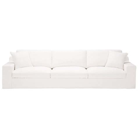 Sofa In White Linen, Seats 5  Stuart Stuart  Maisons Du. Lowes Somerset Pa. Grey Wood Cabinets. Modern Fireplace Ideas. Shelves Above Washer And Dryer. Entrance Light Fixture. Rolling Kitchen Island. Hipster Bedroom Ideas. Demilune Bench