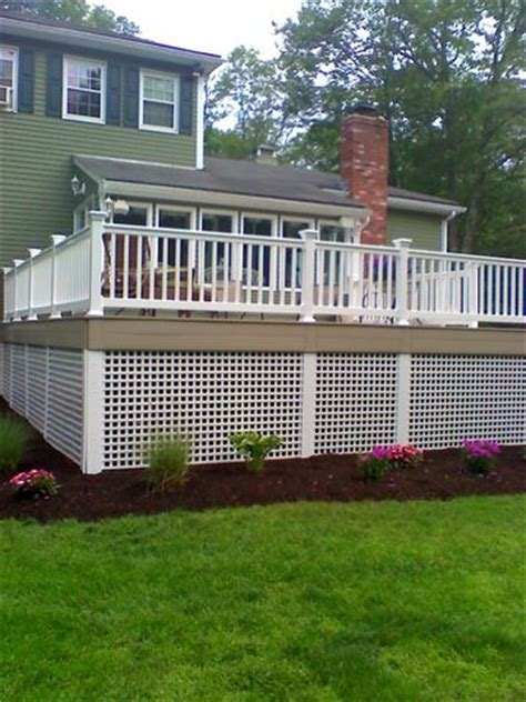 vinyls lattice deck  squares  pinterest