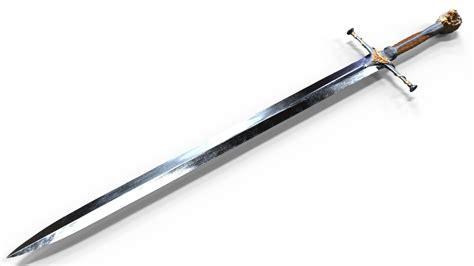 realistic medieval sword 3d model