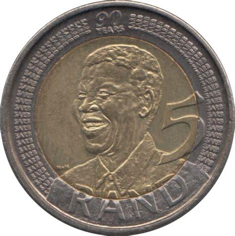 5 rand nelson mandela afrique du sud numista