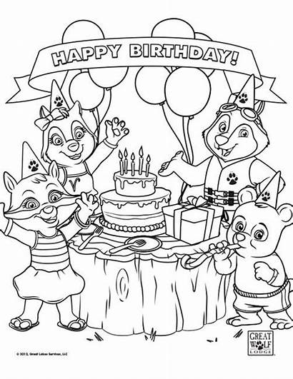 Wolf Coloring Lodge Pages Birthday Sheets Party