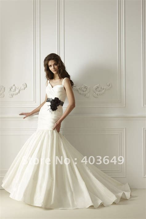 aliexpress buy new design black and white mermaid sleeveless wedding dress f474