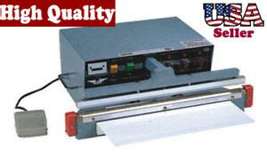 impulse automatic sealer  wire heat seal  cut