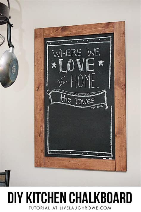 diy kitchen chalkboard  laugh rowe