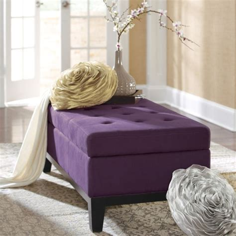 Purple Storage Ottoman by Purple Storage Ottoman Lovely Purple Home