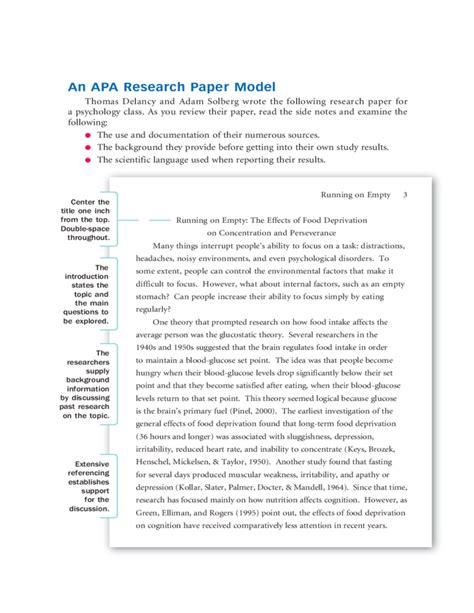 Additional papers here also demonstrate apa style formatting standards for other paper types: Sample APA Research Paper Free Download