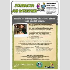 Starbucks Job Interview (role Play) Worksheet  Free Esl Printable Worksheets Made By Teachers