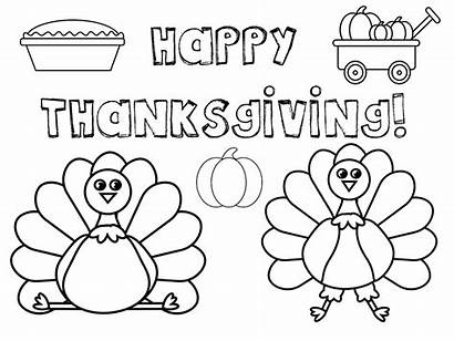 Thanksgiving Coloring Pages Placemat Printable Printables Place