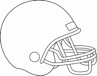 Football Helmet Coloring Team Pages Clipart Clip