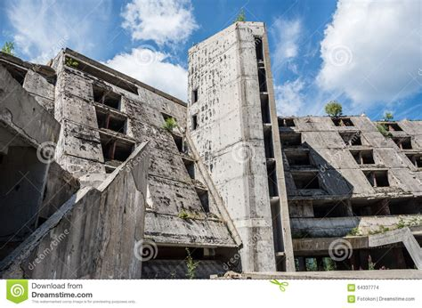 siege sarajevo ruins of hotel stock photo image of ruin
