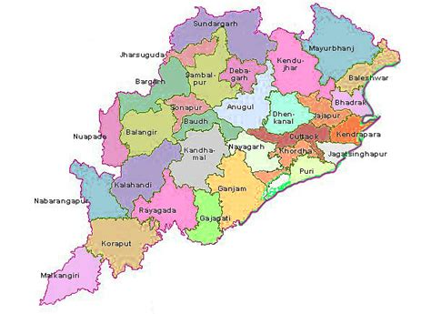 odisha map odisha district map district map  odisha