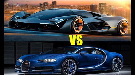 Bugatti Lamborghini by 2018 Lamborghini Terzo Vs Bugatti Chiron Comparations