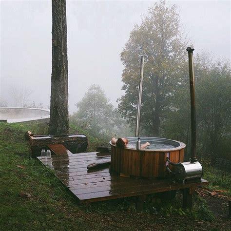 built  wood burning hot tub     gallon