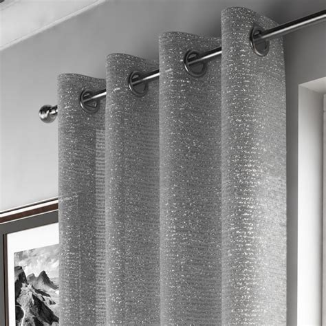Long Kitchen Curtains Silver Sparkle Curtain Panel Tony 39 S Textiles Tonys Textiles